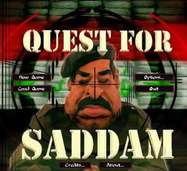 Quest for Saddam Title Screen
